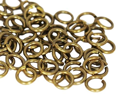 Vintage Brass Round Open Jump Ring (18 Ga Wire - 6 MM O/D) Pack of 280/1 oz -  COPPER WIRE USA, VBJR-18G-6M1Z