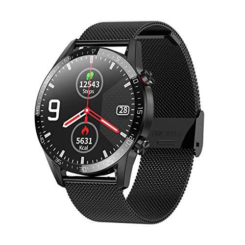 Cuasting Smartwatch L13 Monitoraggio della Pressione Sanguigna Ossigeno Fitness ECG Call IP68 Impermeabile Uomo Donna Smartwatch