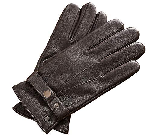 AKAROA ESTD 2019 Lederhandschuhe JIM, weiches Hirschleder, Touchfunktion, Futter aus 50% Kaschmir und 50% Wolle, 5 Größen S- XXL