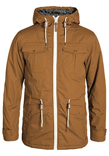 !Solid Tilas Herren Übergangsjacke Parka Mantel Lange Jacke Mit Kapuze, Größe:L, Farbe:Cinnamon (5056)