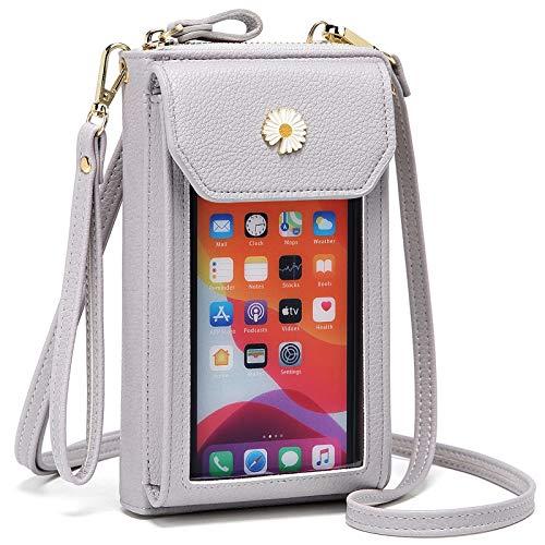 Cotwoco Handytasche zum Umhängen - Handy Umhängetasche Damen, Touchscreen Tasche Handy Schultertasche für Handy unter 7 Zoll