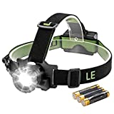 LE CREE LED Headlamp, 3 Lighting Modes, Lightweight Headlight for...