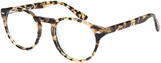 SmartBuy Collection Monica Women's Prescription Eyeglass Frames - Full Rim Round Designer Glasses Frame