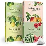 720°DGREE Geschmack für Wasser 'inFuuzed' - 4 Sorten Paket - Das Kaltgetränk ohne Zucker - Natürlich leckere Getränke für Deine Trinkflasche - Alternative zu Limonade, Eistee, Sirup, Brausetabletten