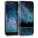 kwmobile Samsung Galaxy J5 (2017) DUOS Hülle - Handyhülle für Samsung Galaxy J5 (2017) DUOS - Handy Case in Galaxie See Wald Design Blau Schwarz