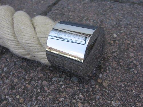 Rope End Cap with Ring for 40/Ã/'/Â/mm Hand Rail Rope Brass matt by Seilendkappe mit Ring Messing matt 40mm