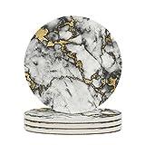 DAMKELLY Store Posavasos de cerámica de arte oriental, mármol...