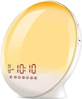 TITIROBA Sunrise Alarm Clock, Smart Wake up Light, Sleep Aid Digital Alarm Clock with Sunset Simulation and FM Radio, APP Control/Snooze /4 Alarms /7 Alarm Sounds/20 Brightness /7 Colors