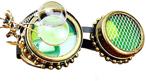 Unisex superlicht gepolariseerde zonnebril, Cosplay Steampunk Goggles Halloween-feest maskerade Props Punk glazen