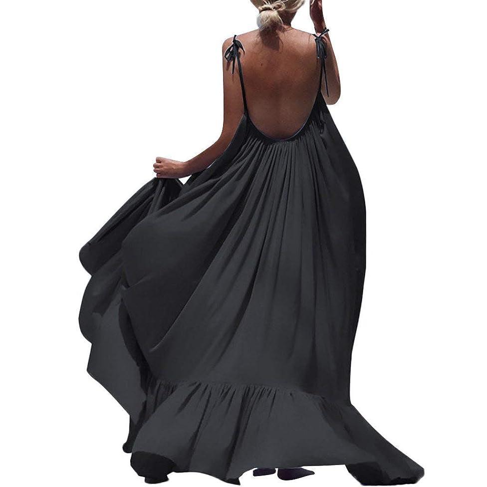 ZQISHMAO 2019 Women Boho Maxi Dress Sexy Backless Sleeveless Beach Party Flowy Summer Long Sun Dress Plus Size