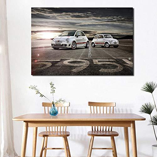 Leinwand Malerei Druck Fiates 595 Abarthes Wohnzimmer Home Decoration Moderne Wandkunst Ölgemälde Poster Bilder 60x80cm Kein Rahmen
