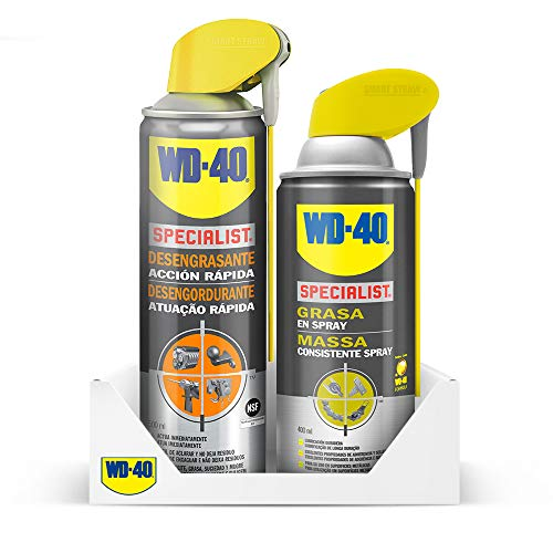 Wd 40 - Wd-40 Specialist Lote Limpieza & Lubricado - Specialist Desengrasante 500Ml + Specialist Grasa En Spray 400Ml - Pack 2 Unidades