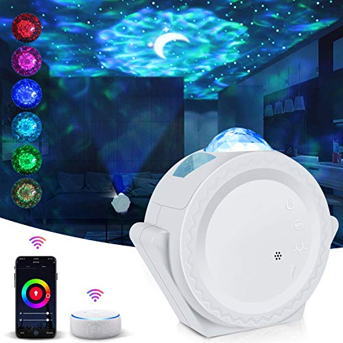 Star Projector Galaxy Projector Moon Night Light Projector Smart Life Work with Alexa Google Home Galaxy Cove Projector Ceiling Star Lights Projector for Bedroom Kids Adults Gift
