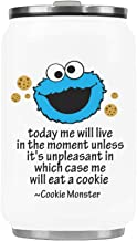 WECE Stainless Steel Vacuum Mug Today me will live in the moment unless it's unpleasant in which case me will eat a cookie - cookie monster Mug Travel Cup Water Bottle or Tea Cup - 10.3oz