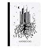Matabooks, cuadernos sostenibles y veganos A6 en papel de hierba, libro de semillas, 108 páginas en blanco, naturaleza, hecho a mano, Made in Germany (Luna)