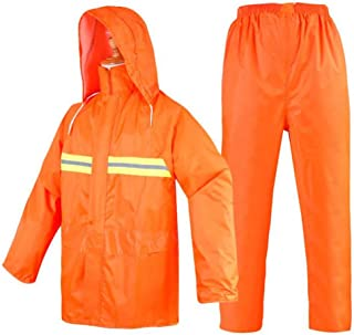 YQRYP Reflective Raincoat Rain Pants Suit, Split Rainproof Clothes Poncho,Split Raincoat (Color : Orange, Size : XXL)