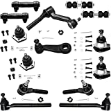 Detroit Axle - 4WD Front Ball Joints +Tie Rods + Sway + Pitman Idler Arms...