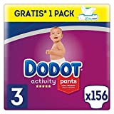 Dodot Activity Pants Pañal-Braguita Talla 3, 156 Pañales, 6-11kg + Dodot Aqua Pure Toallitas...