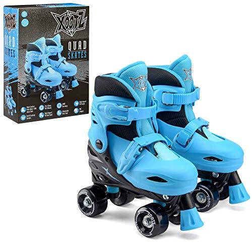 Xootz Quad-skridskor för barn, justerbar rullskridskor pojkar, blå/svart