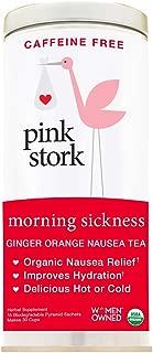 Pink Stork Morning Sickness Tea: Ginger-Orange, USDA Organic Loose Leaf Herbs in Biodegradable Sachets, Morning Sickness, Nausea, Cramps, Indigestion Relief -30 Cups, Caffeine Free