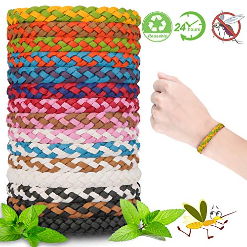 Vivibel Mückenschutz Armband 15 Stück Mückenarmband Armbänder Mosqito Mückenarmband Insektenschutz Armband Anti Mosquito Armband für Kinder geeignet, Erwachsene, Camping, Reise