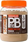 PBfit All-Natural Chocolate Peanut Butter Powder, Powdered Peanut Spread from Real Roasted Pressed Peanuts and Cocoa, 5g of Protein (30 oz.)