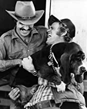 Burt Reynolds and Jerry Reed in Smokey and the Bandit holding dog 8x10 Promotional Photograph