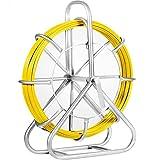 Moracle Cable de Fibra de Vidrio Electraline 6mm y 130 m en Fibra de Vidrio Continua con Soporte para Jaula y Rueda