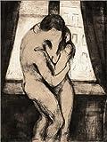 Poster 30 x 40 cm: Der Kuss von Edvard Munch - hochwertiger