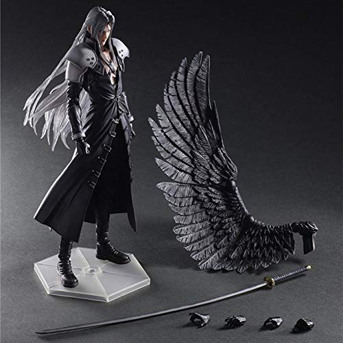 JINGLU Action-Figur Final Fantasy VII Sephiroth Play Arts Spielzeug Modell Anime Spielzeug Statue Dekoration Boxed 28CM