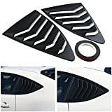 Aishun Dtouch Racing 2 Piece ABS 2 Piece Window Left/Right Racing Style Rear Side Window Vent/Louvers Compatible with 2013-up Scion FR-S Subaru BRZ and Toyota 86 (631# Matte Black)