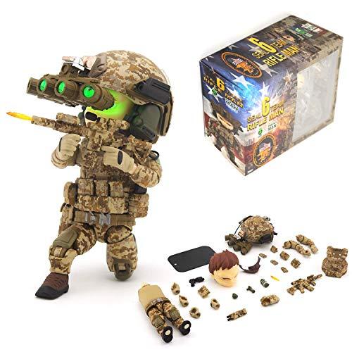 Seal Team 6 Division | Tricky Man Rifleman | Militär Figur Paintball Softair Military | Spezialeinheiten Army Spielfigur | 12 cm groß Special Forces Seal Team 6