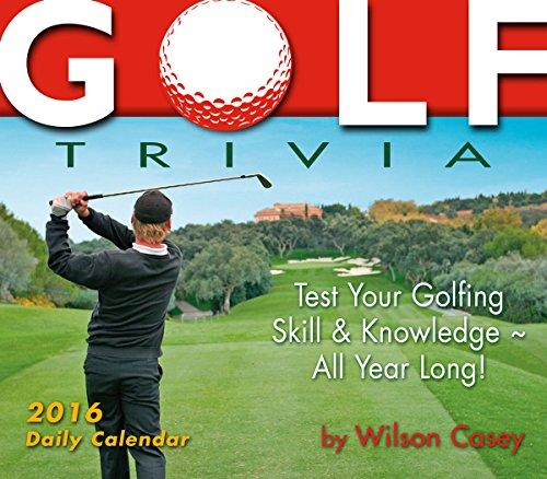 Golf Trivia 2016 Boxed/Daily Calendar