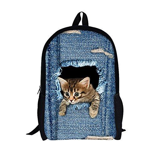 Moolecole Zainetto per bambini, Blau Cat Large (Blu)