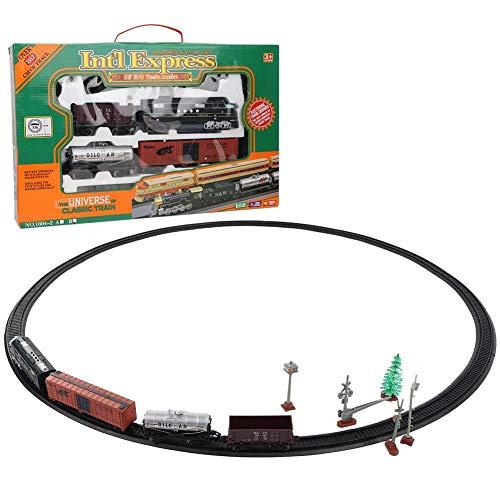 Dilwe Juguete de Tren Educativo, Electrico Juguete de Pista Ninos Juguete de Rompecabezas Presente