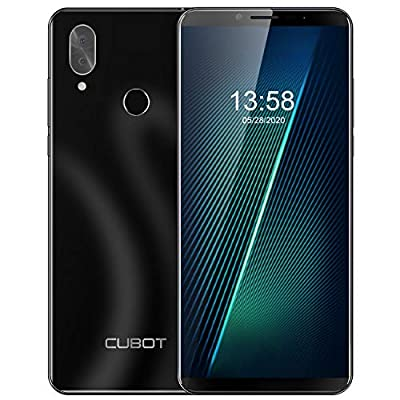 Unlocked Smartphone CUBOT X19 4GB RAM+64GB Cell Phone, 4000mAh, Dual 4G SIM, 5.93 inch FHD Display, Android 9.0 Pie, no Bloatware, GSM, AT&T and T-Mobile, Face ID, Fingerprint, Black