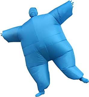Inflatable Fancy Chub Fat Masked Suit Dress Blow Up Halloween Party Costume