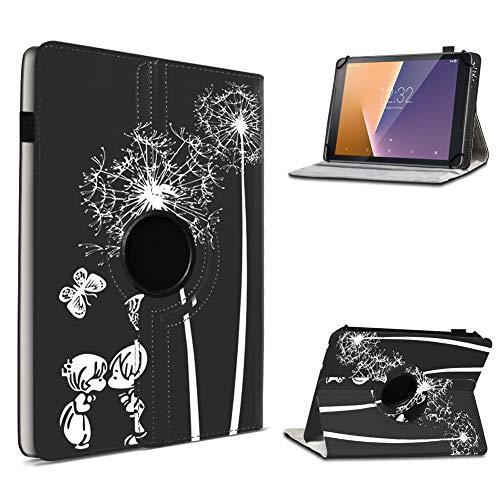 UC-Express Tablet Hülle kompatibel für Vodafone Tab Prime 6/7 Schutzhülle aus Kunstleder Tasche mit Standfunktion 360° drehbar Universal Cover Hülle, Farben:Motiv 8