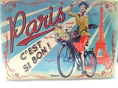 Dibor - French Style Accessories for the Home Gateaux Stile Francese per Biscotti e Biscotti in Latta 25x 13x 15cm