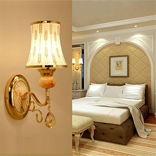 YALI Lampe de Mur en Cristal Moderne, Lampe de Chevet de Chambre à Coucher de Salon de Maison, Lampe de Mur de Projet D'Hôtel de Villa D'Hôtel LED,Une,?sans Source de lumière?