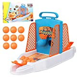Luckybaby Basketball Shooting Game, Desktop Catapult Basketball Game, Mini Pitching Machine Basketball Toy Set ,Fun Parent-Child Interactive Educational Toy