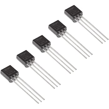 Bridgold 5pcs TMP36GT9Z TMP36 Temperature Analog Sensor -40 → +125 °C ±3°C Voltage,3-Pin