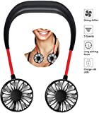 Portable Neck Fan - Hand Free Personal Fan USB Battery Operated Mini Rechargeable