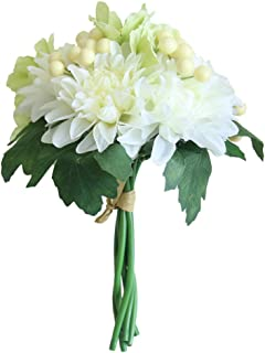 Farantasy造花ファッション美しい現実的な人工偽の花小さな新鮮な葉草植物ブーケホーム結婚式の装飾