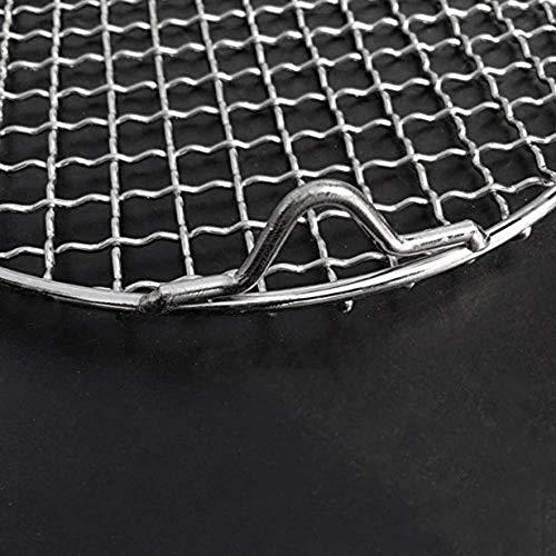 BXU-BG Multi-Purpose-Redondo de alambre de acero inoxidable cruzado para barbacoa, parrilla de carbón, parrilla con patas (8,25 pulgadas de diámetro), 1 paquete