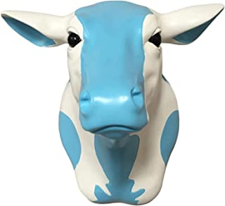Cow Head Sculpture,Animal Head Wall Decoration,Environmental Friendly and Durable Resin Handmade,for Zoo Themed Restaurant...
