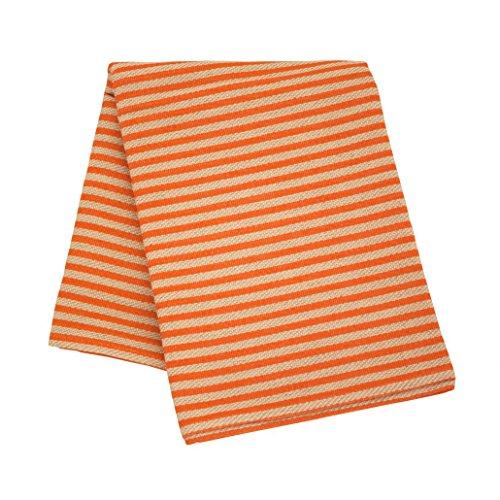 Emendo Sauna Sitzunterlage lang - Sommer Streifen, Orange, 50x150 cm