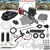 Full Set 100CC Bicycle Engine Kit, Motorized Bike 2-Stroke, Petrol Gas Engine Kit, Super Fuel-efficient for 24',26' or 28' Bicycle (Silver)
