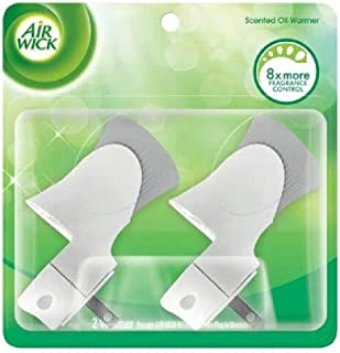 Air Wick plug in Scented Oil Warmer, White, 2ct, Essential Oils, Air Freshener