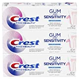 Crest Pro-Health Gum and Sensitivity, Sensitive Toothpaste (Gentle Cleaning) (Pack of 3), 4.1 oz